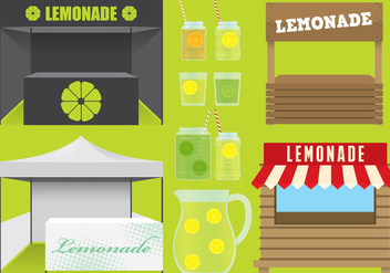 Lemonade Stands - vector gratuit #374633