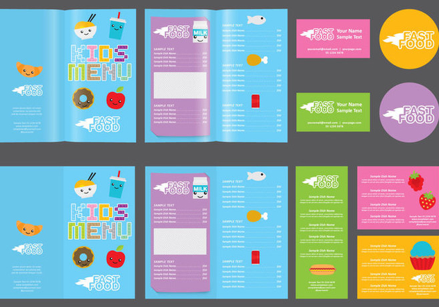 Cute Infant Menu - Free vector #374683