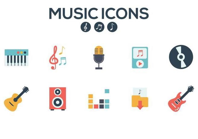 Free Music Icons Vector - бесплатный vector #374753