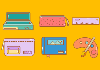 Free Pencil Case Vector 3 - Free vector #374793