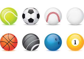 Sport Balls Collection - vector #374883 gratis