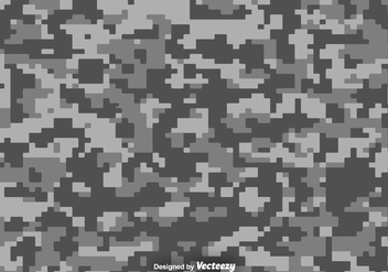 Pixelated Multicam Vector Camouflage Background - vector gratuit #374893