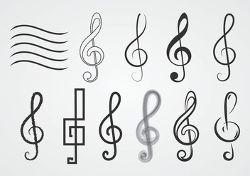 Free Treble Clefs - Free vector #374913