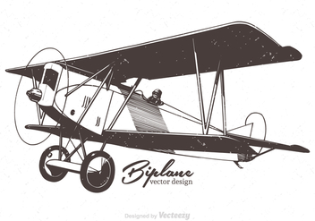 Free Biplane Vector Illustration - Free vector #374973