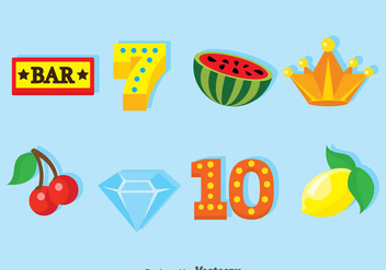 Jackpot Items Icons - vector gratuit #375023