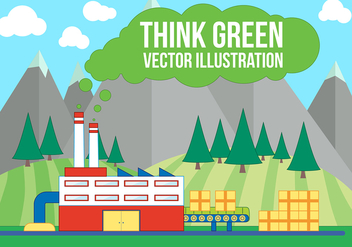Free Think Green Vector Illustration - Kostenloses vector #375183