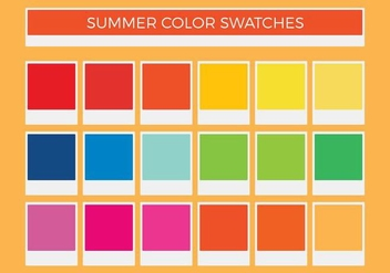 Free Summer Vector Color Swatches - Kostenloses vector #375283