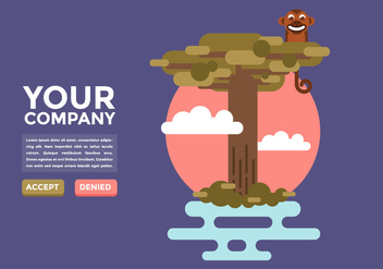 Baobab Three Illustration Vector - Free vector #375293