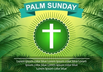 Template Palm Sunday Green Palm Leaf - Free vector #375333