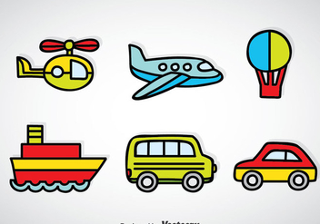 Transportation Vehicle Cartoon Vector - Free vector #375373