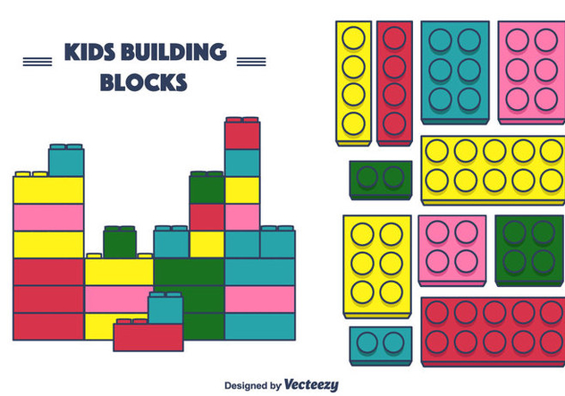 Kids Building Blocks Vector - Free vector #375403
