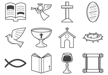 Free Christian Religion Icon Vector - vector gratuit #375443