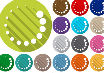 Vector Set Of Preloader Icon Buttons - Kostenloses vector #375473