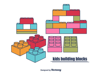 Kids Building Blocks - Kostenloses vector #375503