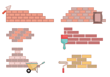 Bricklayer Vector - Free vector #375553