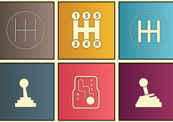 Gearbox icon custom set - vector #375563 gratis