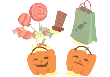 Trick or Treat Vector Set - Free vector #375583