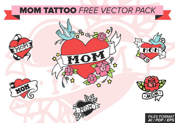 Mom Tattoo Free Vector Pack - vector #375603 gratis