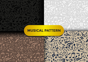 Violin Key Music Pattern - Free vector #375673