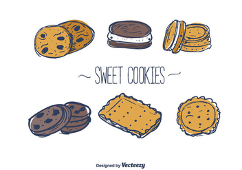 Sweet Cookies Vector - Free vector #375683