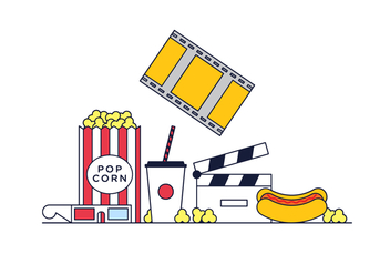 Free Pop Corn Vector - vector #375773 gratis