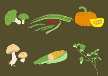 Vegetable Illustration Vector - vector gratuit #375803