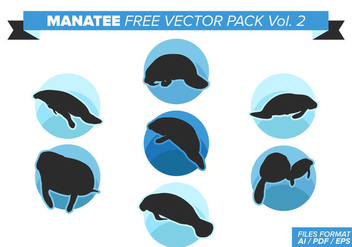 Manatee Free Vector Pack Vol. 2 - Free vector #375823