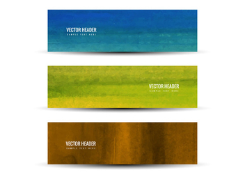 Free Vector Colorful Headers - бесплатный vector #375843