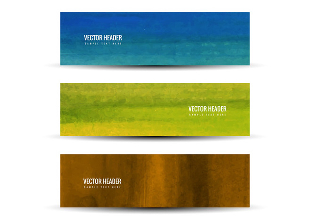 Free Vector Colorful Headers - Free vector #375843