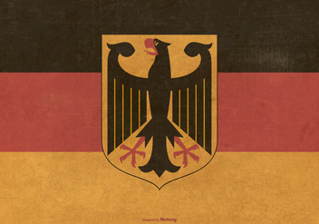 Vinatge Flag of Germany - vector gratuit #375913