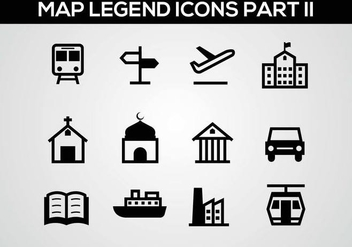 Free Map Legend Part II Vector - vector gratuit #375983