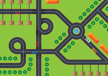 Road Top View - vector #376033 gratis
