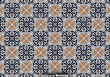 Tile Floor - Ornamental Vector Pattern - бесплатный vector #376053