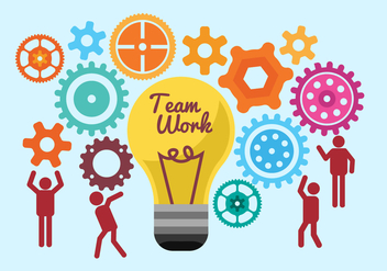 Free Team Work Illustration Vectors - бесплатный vector #376093