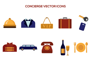 Free Concierge Vector Icons - Kostenloses vector #376103