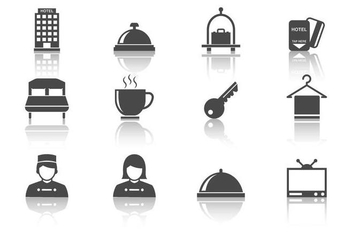 Free Hotel Icons Vector - Free vector #376113