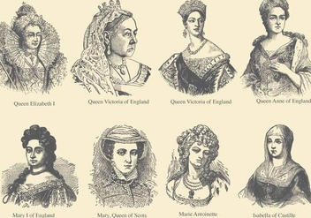 Queens Of Europe - vector gratuit #376123