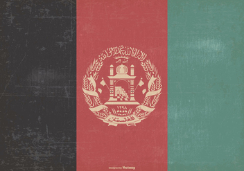 Vintage Flag of Afghanistan - бесплатный vector #376133