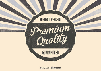 Retro Premium Quality Background - vector #376143 gratis