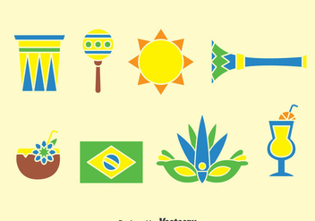 Samba Element Icons Vector - бесплатный vector #376263