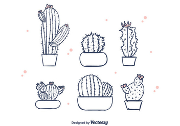 Free Hand Drawn Cactus Vector - бесплатный vector #376343