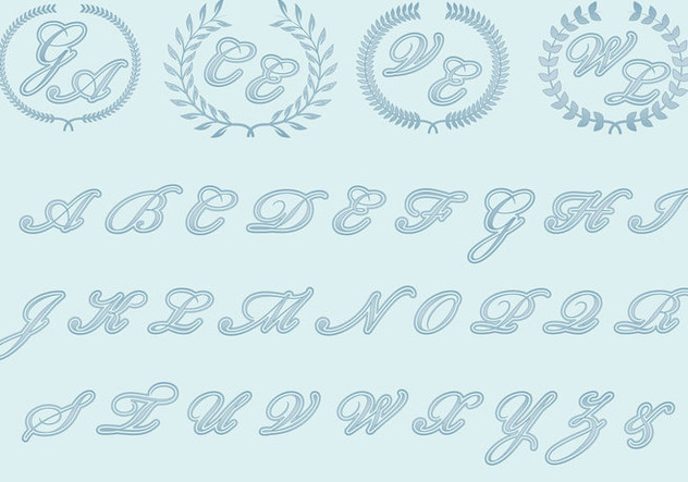 Wedding Monograms - Free vector #376363