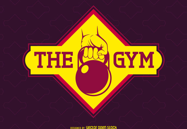 Bright gym label logo - бесплатный vector #376543