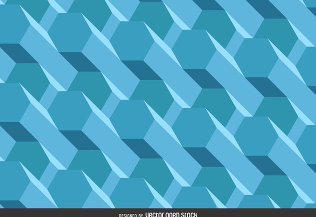 Polygonal 3d background - Free vector #376553
