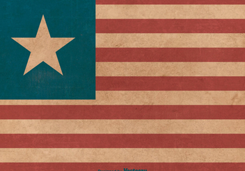 Grunge Flag of Liberia - Free vector #376583