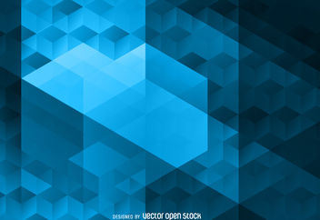 Abstract polygonal background - Free vector #376633
