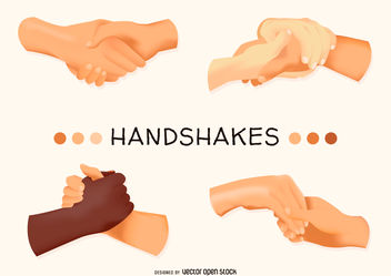 Illustrated handshake set - Free vector #376663