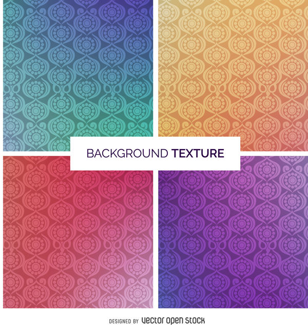 Gradient ornamental texture set - vector #376763 gratis
