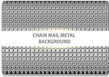 Chainmail Metal Seamless - vector gratuit #376843