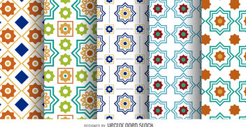 Arabic Ramadan pattern set - Free vector #376853